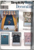 7630 UNCUT Simplicity Sewing Pattern Home Decor Window Treatments Valanc... - $4.95
