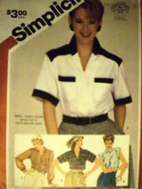 6018 Vintage Simplicity Pattern Misses Shirt Blouse SEWING OOP - $4.88