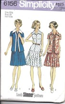 6156 Simplicity Vintage SEWING Pattern Women's 1970's Unlined Jacket Dre... - $9.99