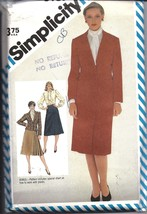 6187 Simplicity Vintage SEWING Pattern Misses Slim Skirt Blouse Lined Jacket OOP - $4.33