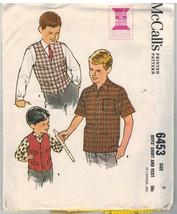 6453 UNCUT Vintage McCalls Sewing Pattern Boys 1960's Shirt Vest OOP SEW... - $4.19