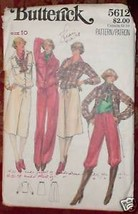 *Butterick Misses' Sports Outfit Pattern  Size 10 - $4.19