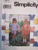 *Simplicity Pattern 7626 Girls Top Shorts 2-6X UNCUT - $4.89