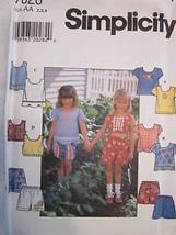 *Simplicity Pattern 7626 Girls Top Shorts 2-6X UNCUT - $2.96+