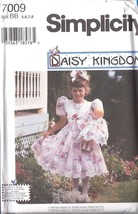7009 UNCUT Simplicity Vintage Sewing Pattern Girls Daisy Kingdom Dress + Doll FF - $12.74