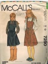 7250 Vintage McCalls Sewing Pattern Girls Top Stitched Back Wrap Jumper ... - $4.19