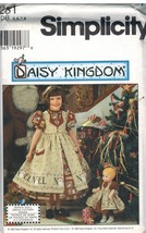 "7281 UNCUT Simplicity Sewing Pattern Daisy Kingdom Dress Pinafore 17"" Do... - $9.99"