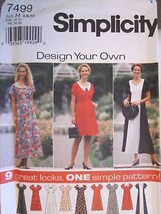 7499 Uncut Simplicity Sewing Pattern Misses Easy Dress Vintage Oop Sew - $4.89
