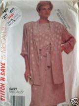 VINTAGE McCalls Pattern Jacket Dress Tie Belt 6 8 10 - $4.33