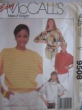 VINTAGE McCalls Pattern 9508 Stretch Knit Tops XS-L FF - $4.89