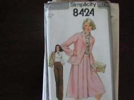 Uncut Vintage Simplicity SEWING Pattern Jacket Skirt Blouse - $4.19