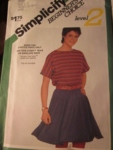 VINTAGE Simplicity Sewing Pattern 6102 Misses KNIT Pull-On Mini-Skirt Sz 6-8 - $4.19