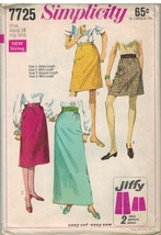7725 UNCUT Vintage Simplicity Sewing Pattern Misses Jiffy Skirts 4 Lengt... - $4.95