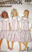 Vintage Butterick Sewing Pattern Jumper Top 4891 7 8 10 SEWING - $4.19
