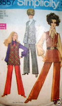 Vintage Simplicity Pattern 1960's Vest Pants 8557 12 - $4.89
