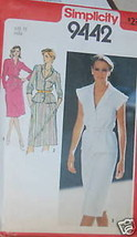 Vintage Simplicity Sewing Pattern Two Piece Dress Uncut 12 Sew - $4.19