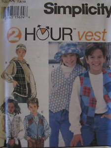 Primary image for 9068 Vintage UNCUT Simplicity SEWING Pattern Girls Boys Vest Waistcoat 2 Hour FF