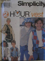 9068 Vintage UNCUT Simplicity SEWING Pattern Girls Boys Vest Waistcoat 2 Hour FF - $4.89