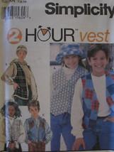 9068 Vintage UNCUT Simplicity SEWING Pattern Girls Boys Vest Waistcoat 2... - $4.89