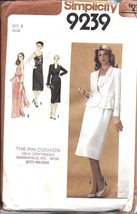 9239 Vintage Simplicity Sewing Pattern Misses Dress 2 Lengths Lined Jack... - $4.89