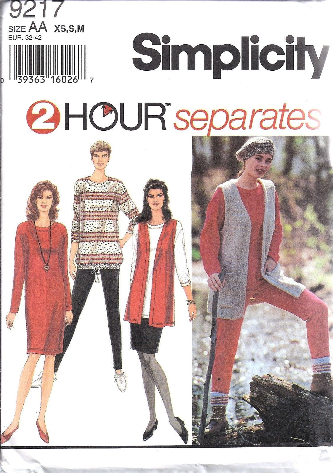 9217 Simplicity Vintage SEWING Pattern 2 Hour Separates Knit Pants Skirt OOP SEW