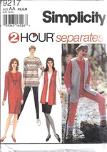9217 Simplicity Vintage SEWING Pattern 2 Hour Separates Knit Pants Skirt... - $4.86