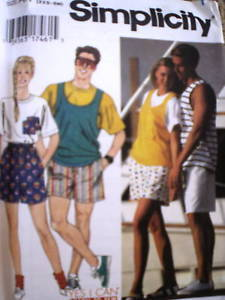 9978 UNCUT Simplicity Pattern Shorts Top 9978 Learn 2 SEW
