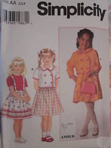 *Simplicity Pattern 7494 Girls Jacket Skirt 2-6X UNCUT - $4.89