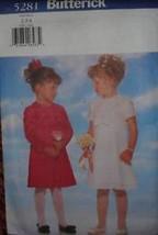 *UNCUT Butterick Sewing Pattern 5281 Girls Fancy Dress 2 3 4 - $8.99