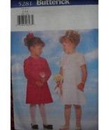 *UNCUT Butterick Sewing Pattern 5281 Girls Fancy Dress 2 3 4 - $8.99