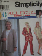 **UNCUT Simplicity Pattern Jacket Skirt Pants Top 9474 - $6.99