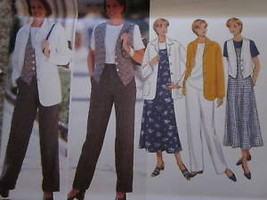 UNCUT Vintage Butterick SEWING Pattern 4345 Jacket Top Vest Jumper Pants - $4.89