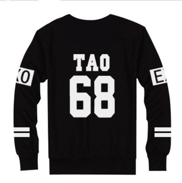 Kpop EXO Sweater BaekHyun Luhan Hoodie Sehun KAI ChanYeol Suho TAO Jumper Kris