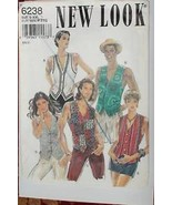 UNCUT Vintage New Look SEWING Pattern 6238 UNISEX Vest S M L XL XXL - $4.33
