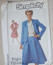 UNCUT Vintage Simplicity Pattern Jacket Skirt 7451 14 SEWING - $4.19