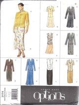 UNCUT Vintage Vogue SEWING Pattern Misses Top Skirt Scarf Easy 2174 8 10... - $9.99