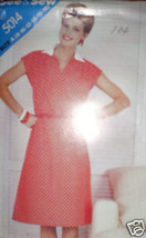 Vintage Butterick Pattern Dress 5014 SEWING 8 10 12 14 - $4.33