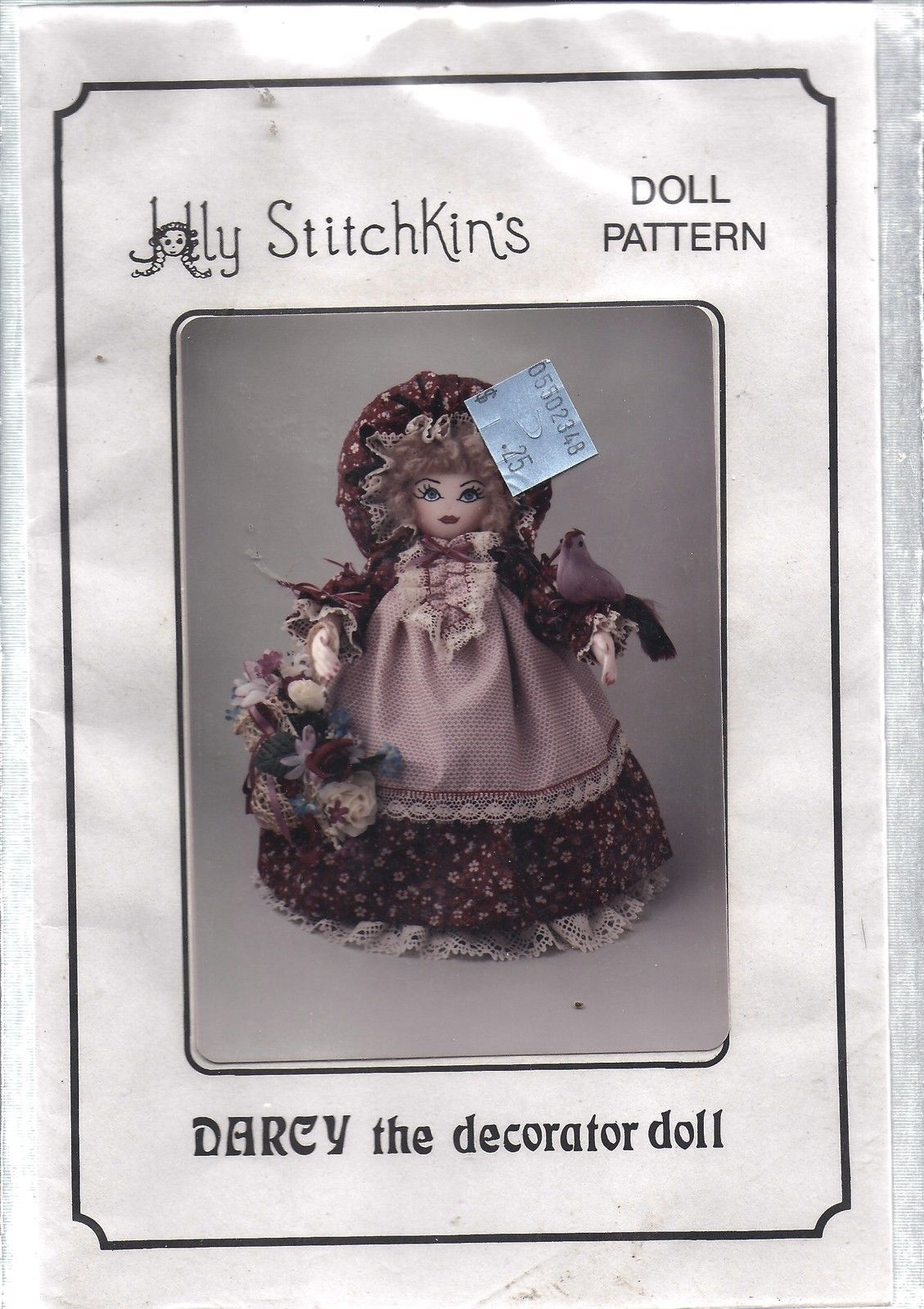 "Vintage Craft Sewing Pattern Darcy Decorator Doll 15"" Clothes Holly Stitchkins"