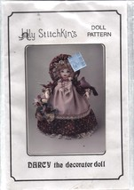 "Vintage Craft Sewing Pattern Darcy Decorator Doll 15"" Clothes Holly Stit... - $4.33"
