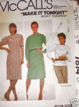 Vintage McCalls Pattern 1980's Dress Top 7874 10 SEWING - $4.19