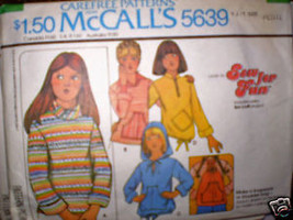 Vintage McCall Pattern Girls Knit Tops Petite 5/6 7/8 - $4.19