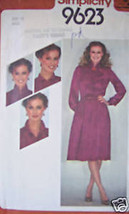Vintage Simplicity Pattern 1980's Dress 10 SEWING SEW - $4.89
