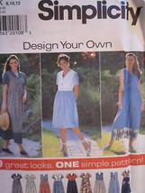 Vintage Simplicity SEWING Pattern 7577 Design Your Own Dress UNCUT OOP N... - $4.89