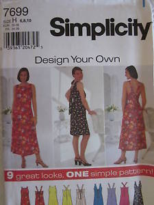 Primary image for Vintage Simplicity SEWING Pattern 7699 Misses EASY Dress 6-22 UNCUT OOP NEW FF