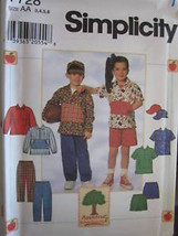Vintage Simplicity SEWING Pattern 7728 Pants Top Shorts Cap UNCUT - $4.89