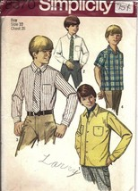 Vintage Simplicity SEWING Pattern Classic Boys Church Shirt Tie 8370 10 ... - $4.79