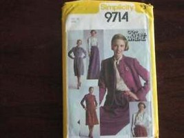 Vintage Simplicity SEWING Pattern Blouse Skirt Lined Jacket 12 - $4.19