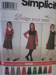 Vintage Simplicity SEWING Pattern Girls Jumper 7723 UNCUT OOP