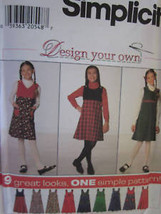 Vintage Simplicity SEWING Pattern Girls Jumper 7723 UNCUT OOP - $4.89