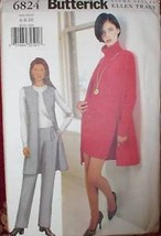 Vintage UNCUT Butterick Sewing Pattern 6824 Vest Skirt Pants 6 8 10 - $4.19